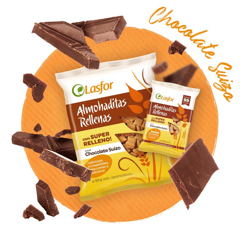 Almohaditas Rellenas Chocolate Suizo Lasfor
